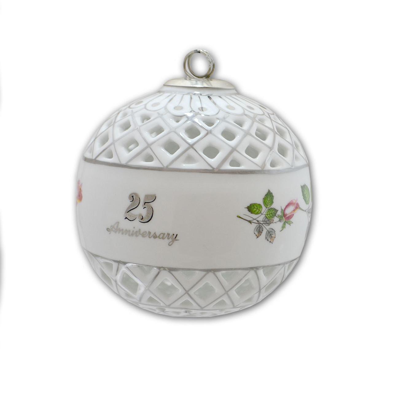 25 Anniversary Keepsake Ornament