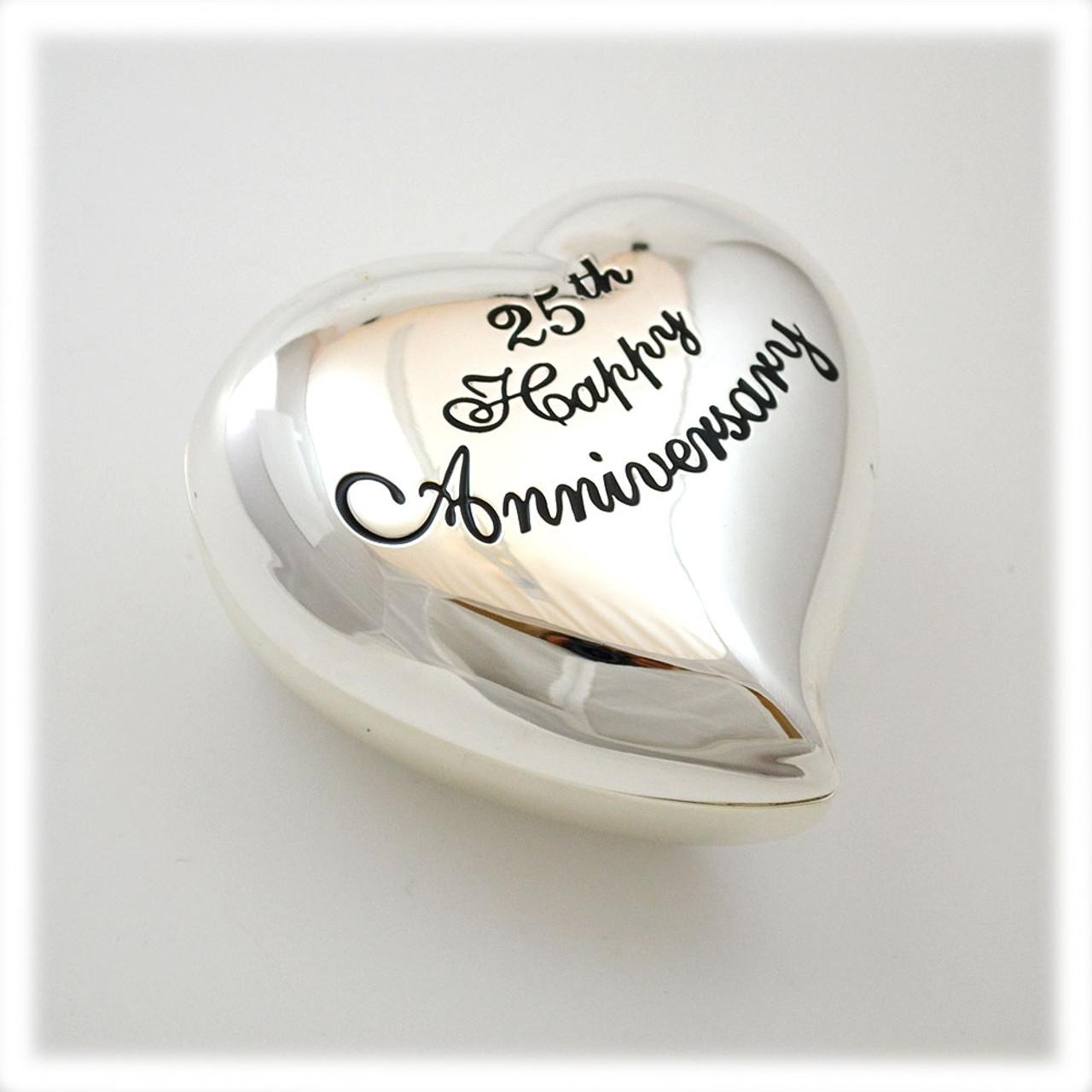25th Wedding Anniversary Heart Box