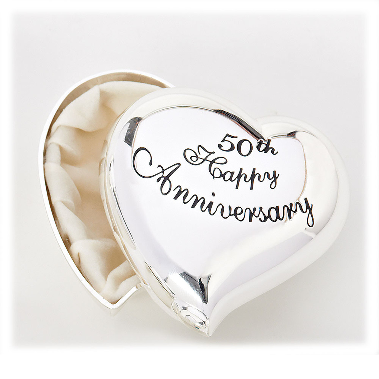 50th Wedding Anniversary Heart-Shaped Box
