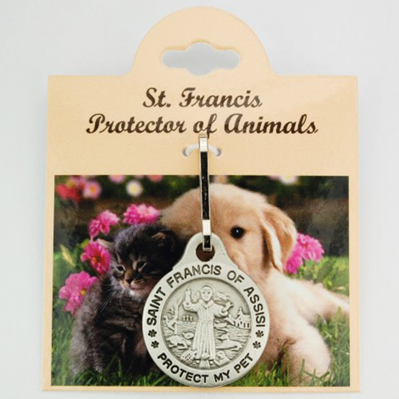 St. Francis Pet Medal with Optional Personalization