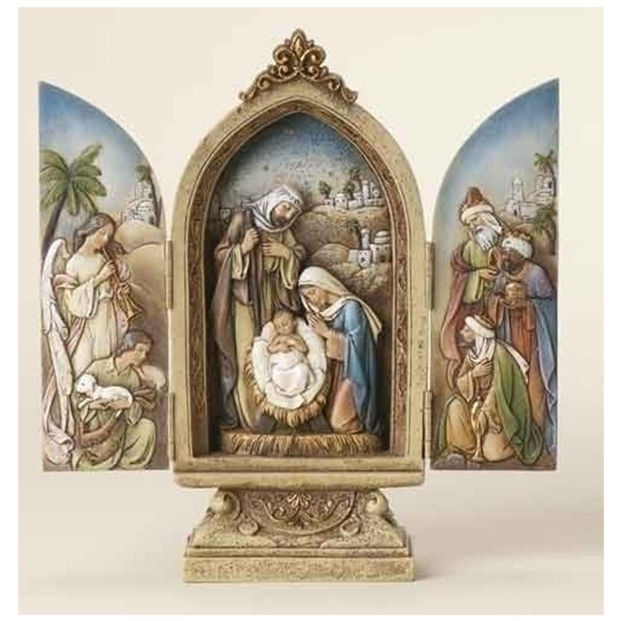 """9"""" Nativity Triptych"""