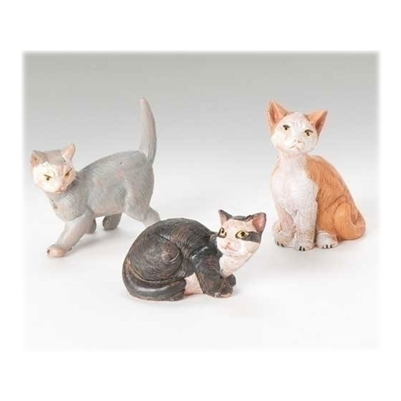 3-Piece Fontanini Nativity Cat Set w/Story Card