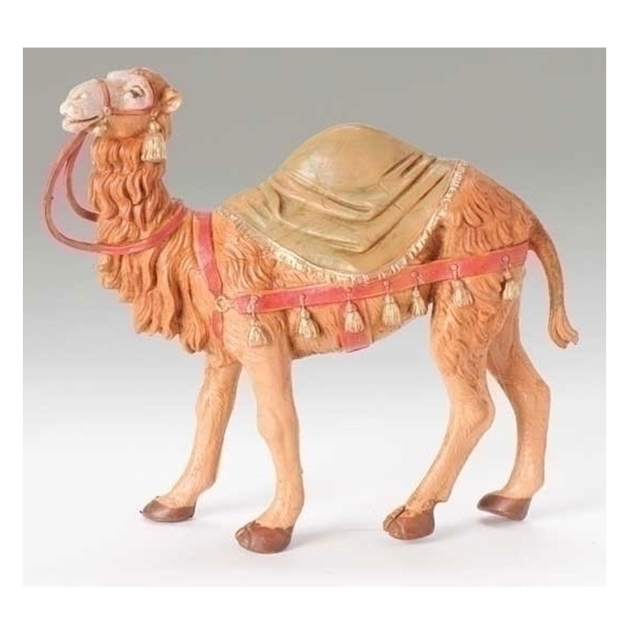"""5"""" Scale Fontanini Camel With Blanket Nativity Figure"""