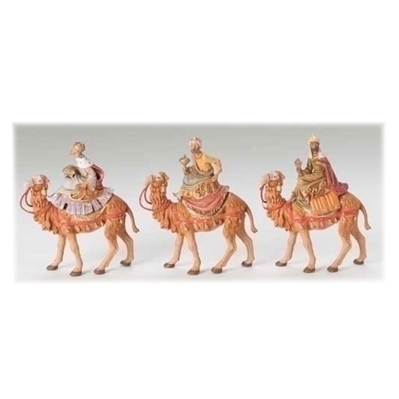 Three Kings on Camels 5 Inch Nativity Figurines
