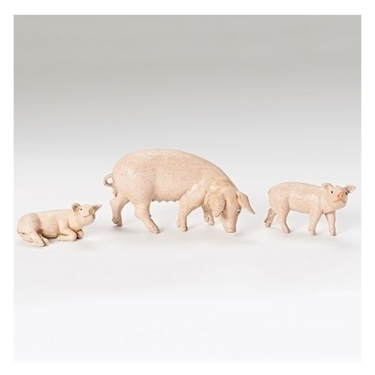 Fontanini Pig Family for 5IN Nativity Set