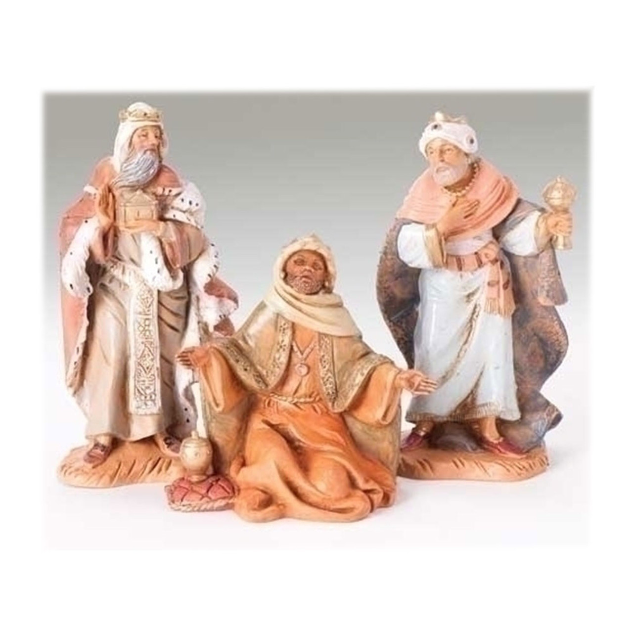 "5"" Scale Fontanini Three Kings Nativity Figures"