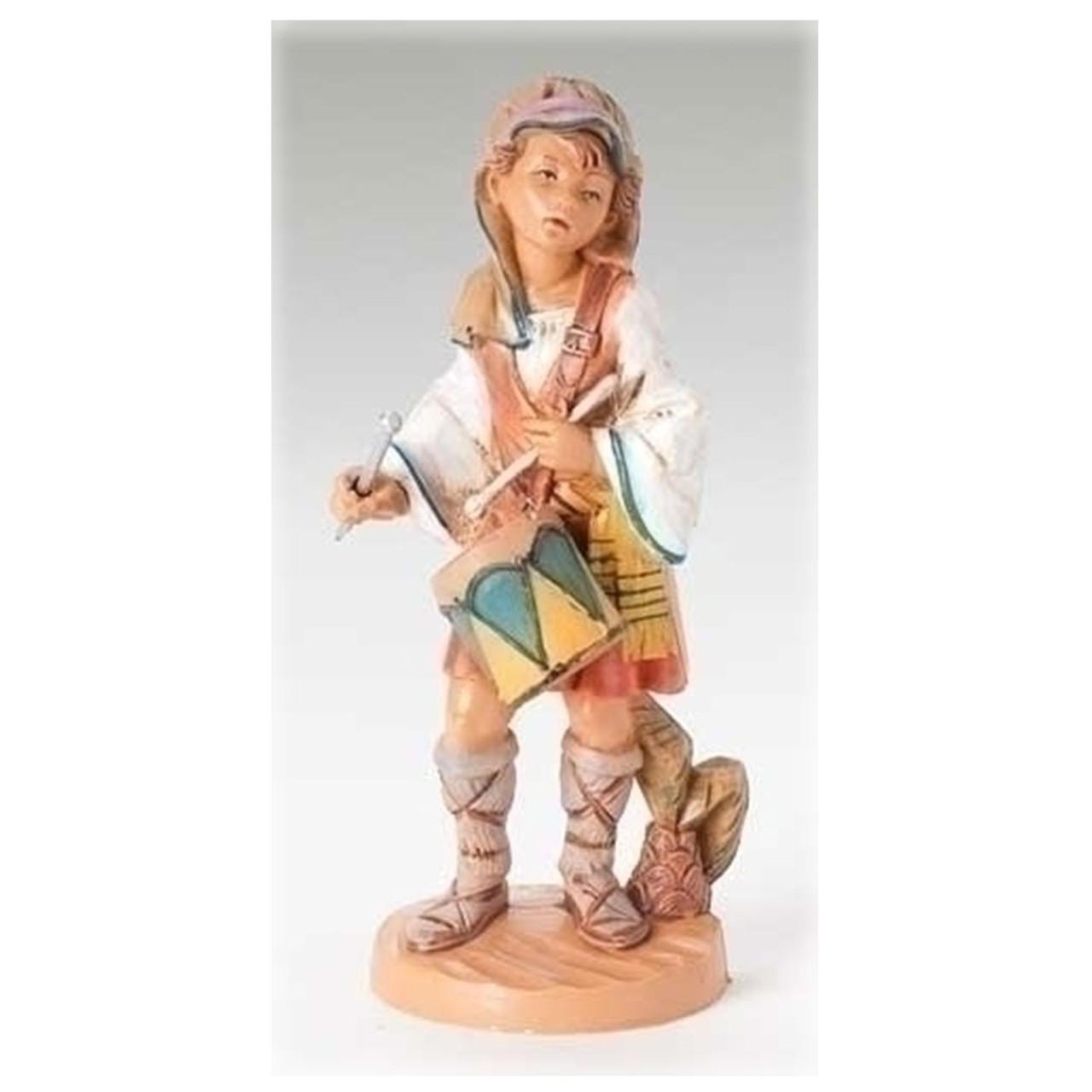 "5"" Scale Fontanini Drummer Boy Nativity Figure"