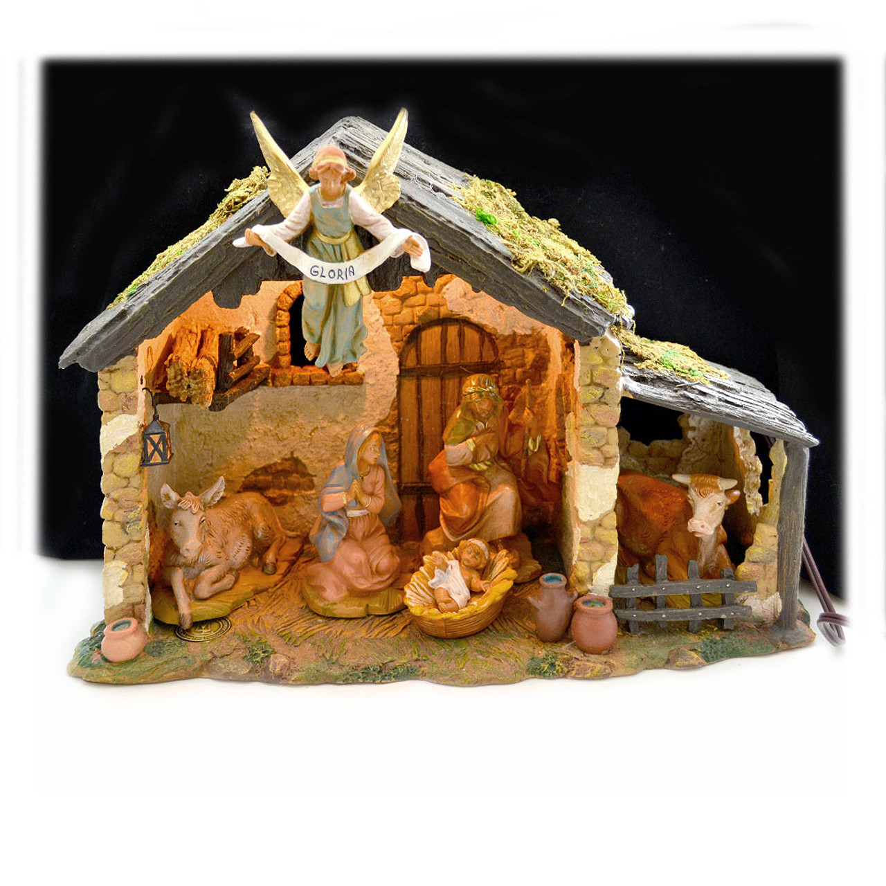6 Piece Fontanini Nativity w/ Lighted Stable - 5IN