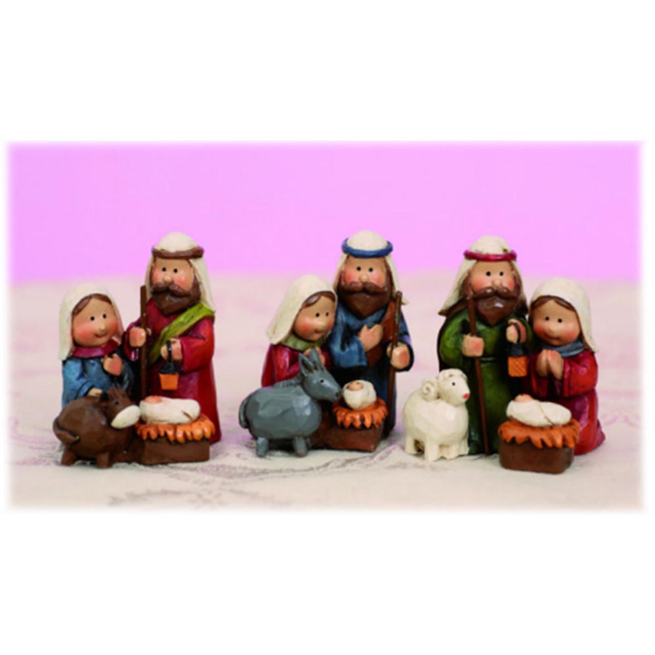 Mini Resin Nativity 3Asst