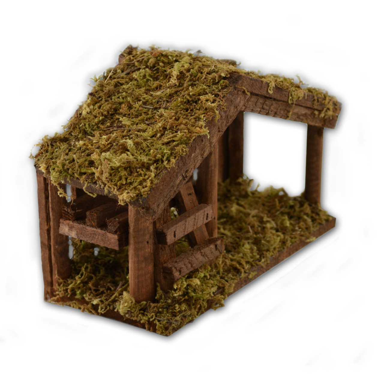 Stable with Moss 6 IN