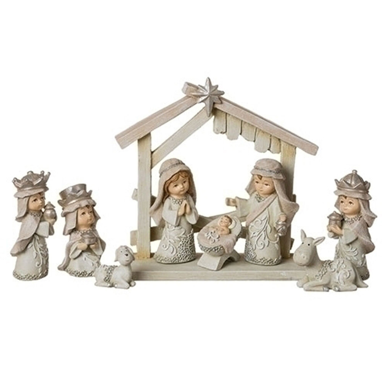 Pageant Nativity Set 9PCS 3IN High
