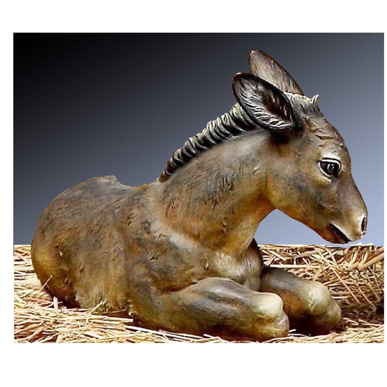 Donkey 20 IN Colored for 27IN Nativity