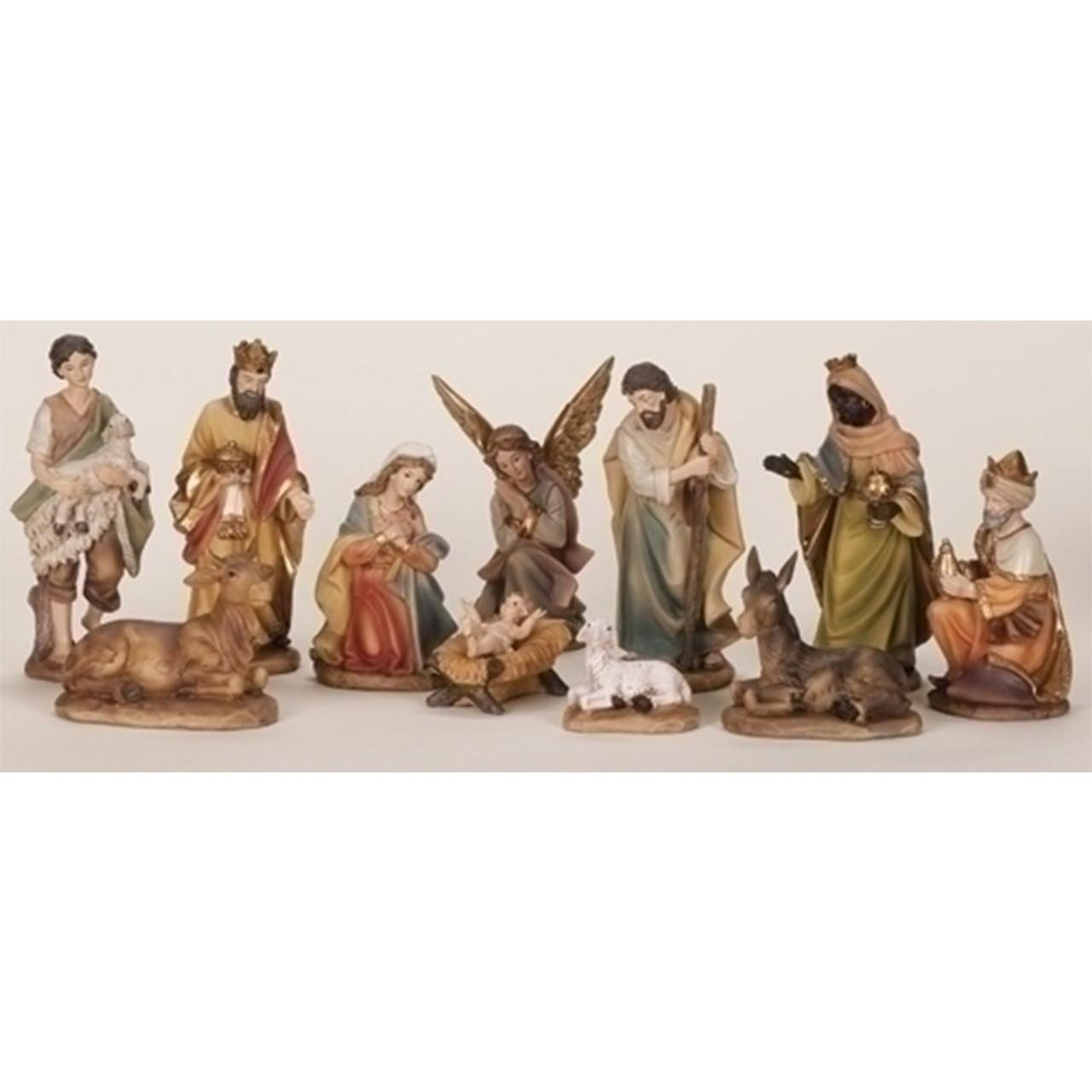 Nativity Set 11PC 6IN - Color