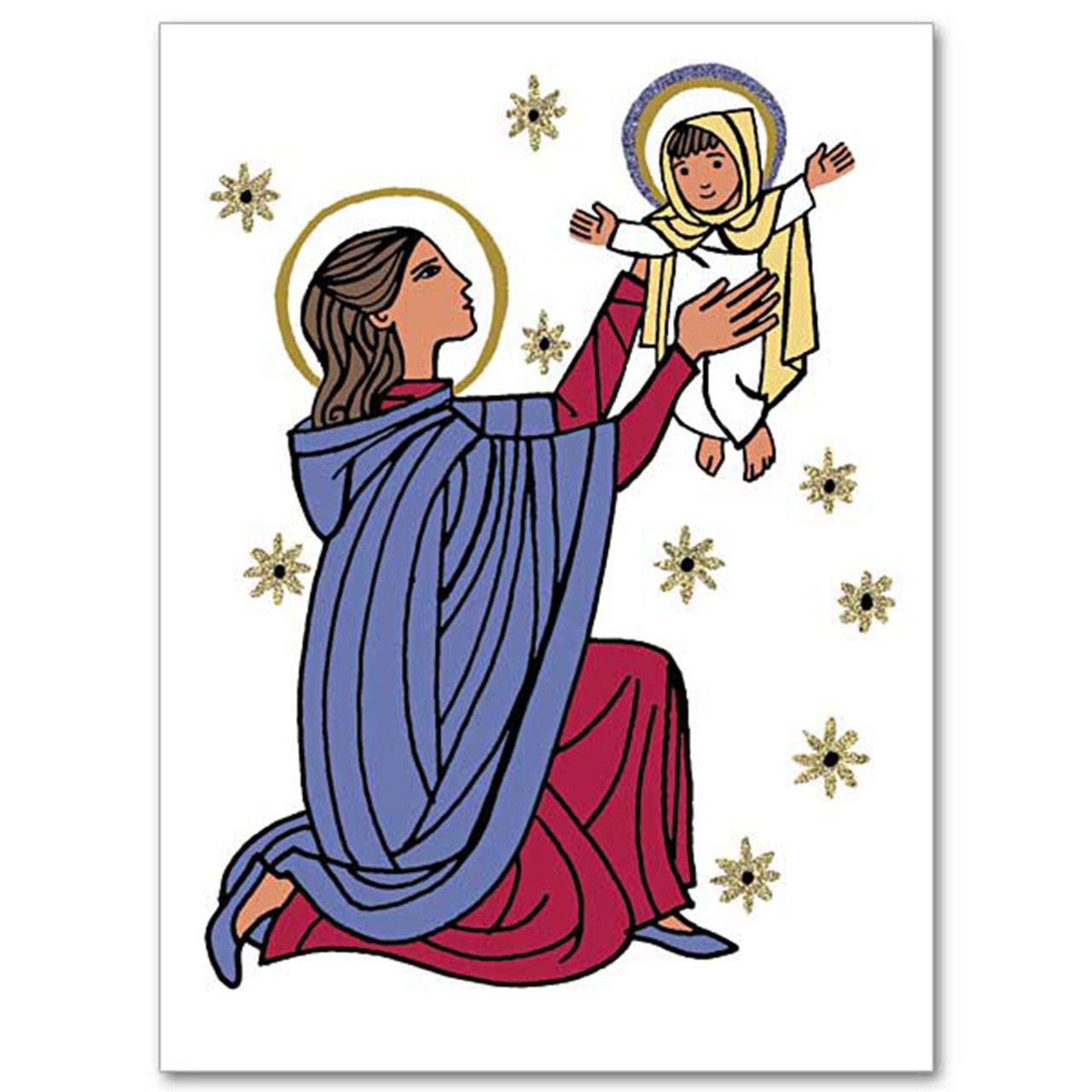 Christmas Card with Mary and Jesus