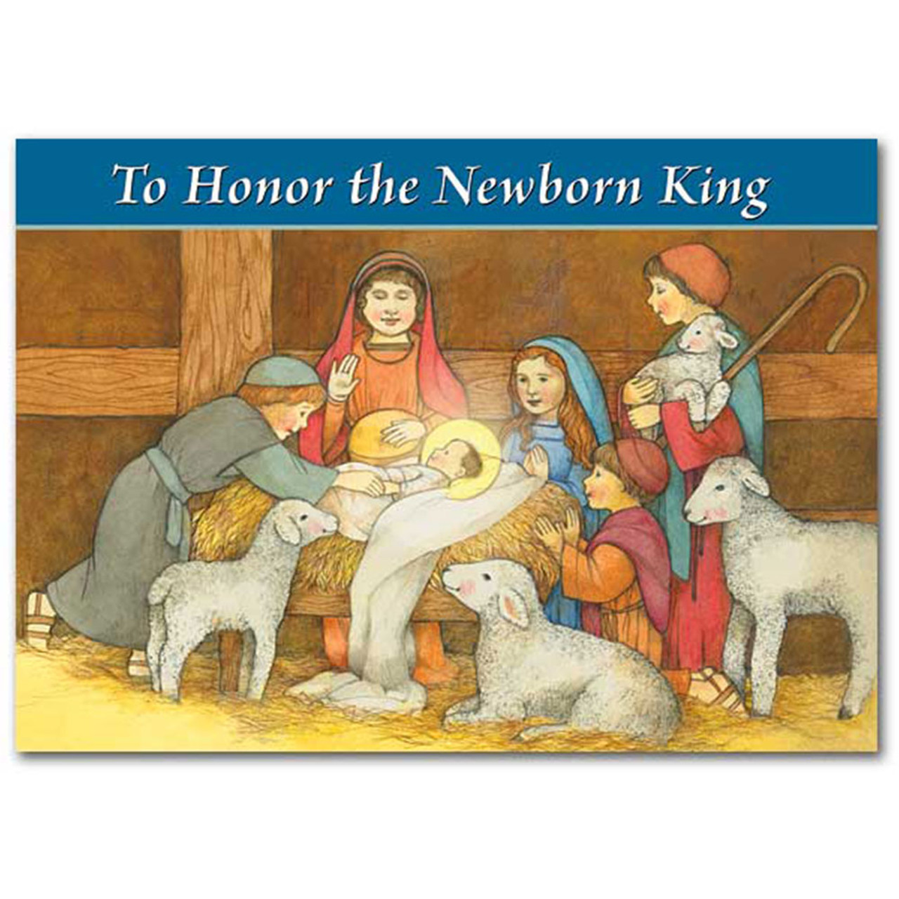 To Honor the Newborn King Christmas Card