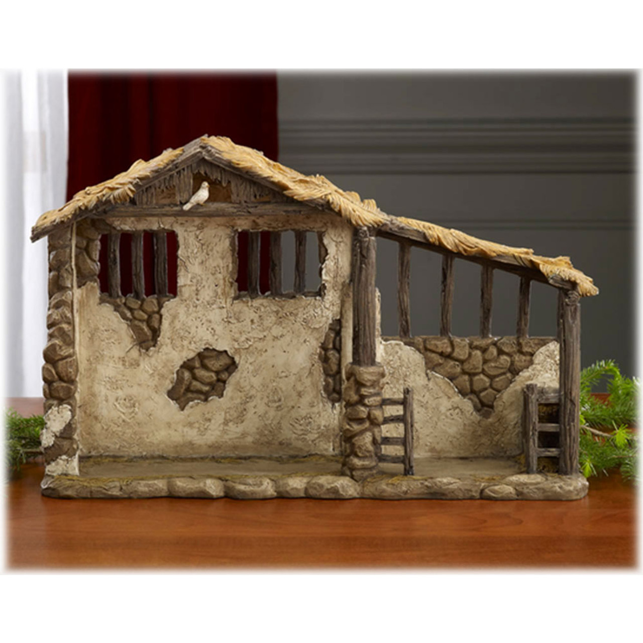 Lighted Stable 20x12-3/4IN