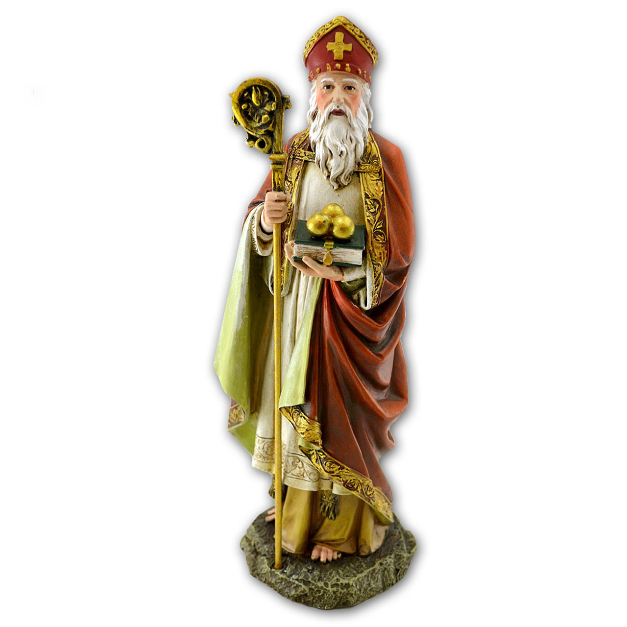 St Nicholas 10.5 Inch Resin Statue