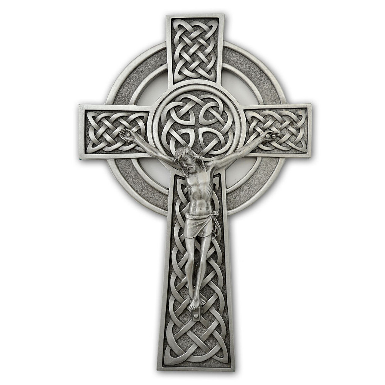 Pewter Celtic Knot Crucifix