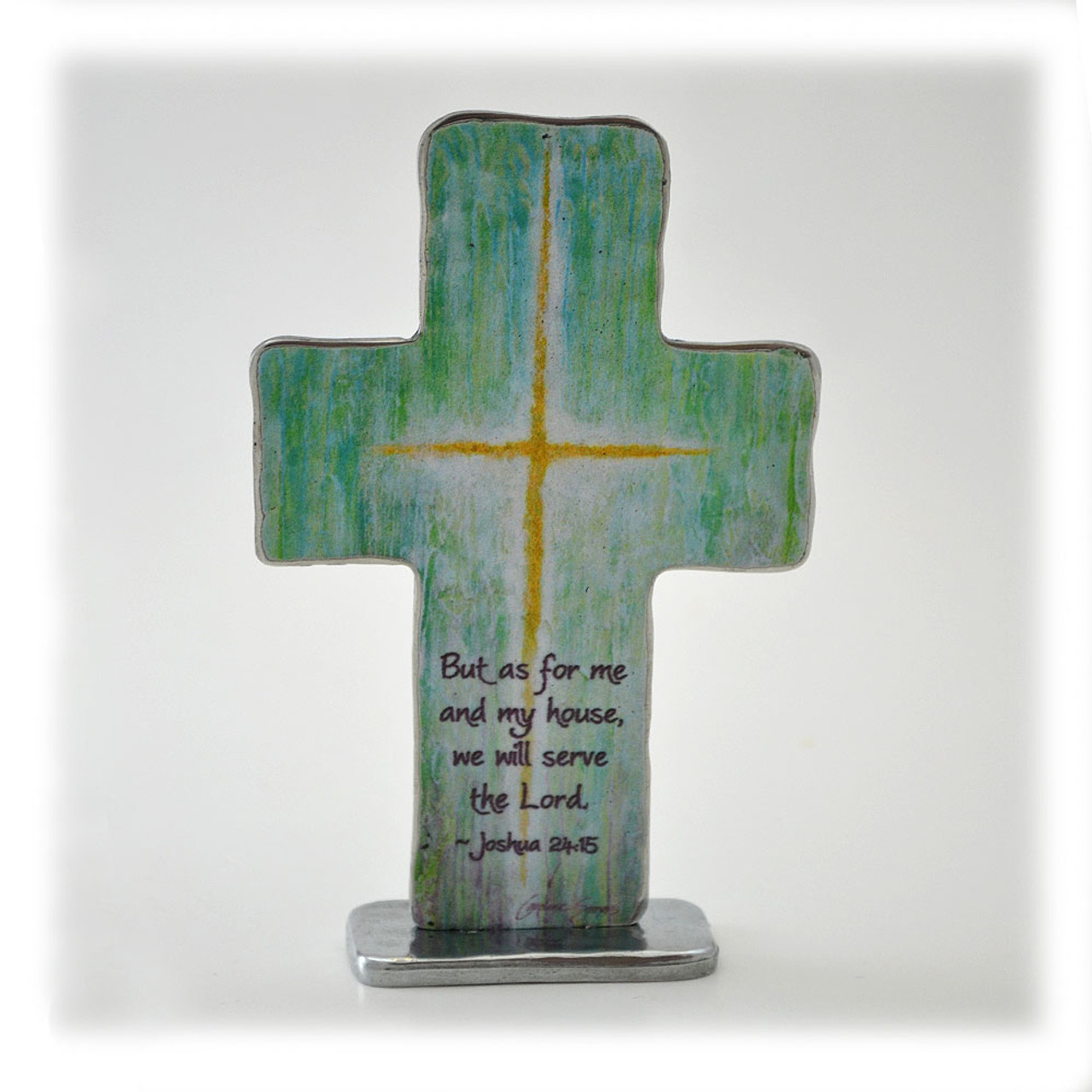 """Inspirational Standing Cross """"Me and My House"""""""