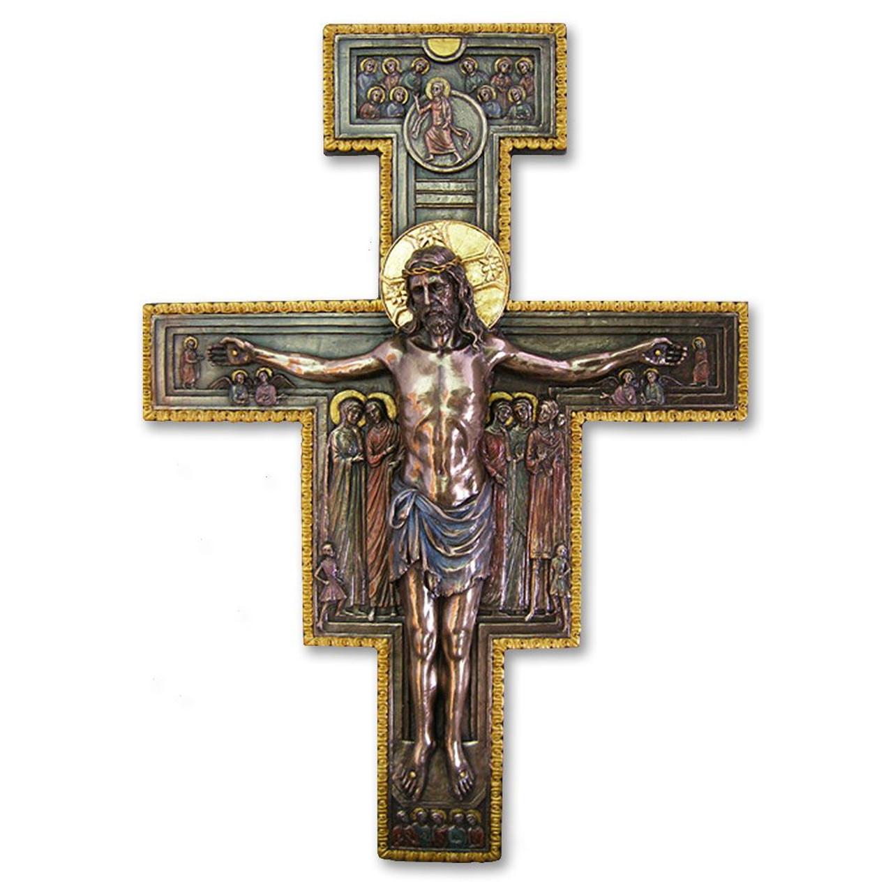 San Damiano Crucifix Bronze 11x16IN