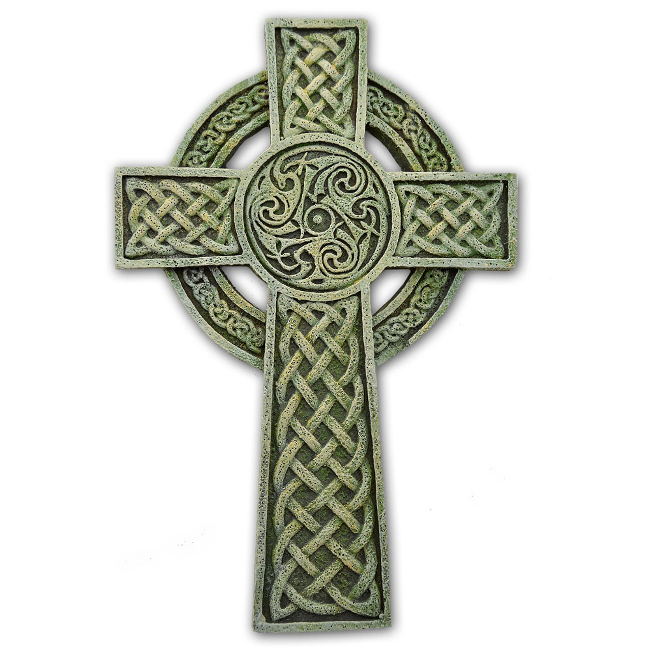 Green Tinted Celtic Wall Cross