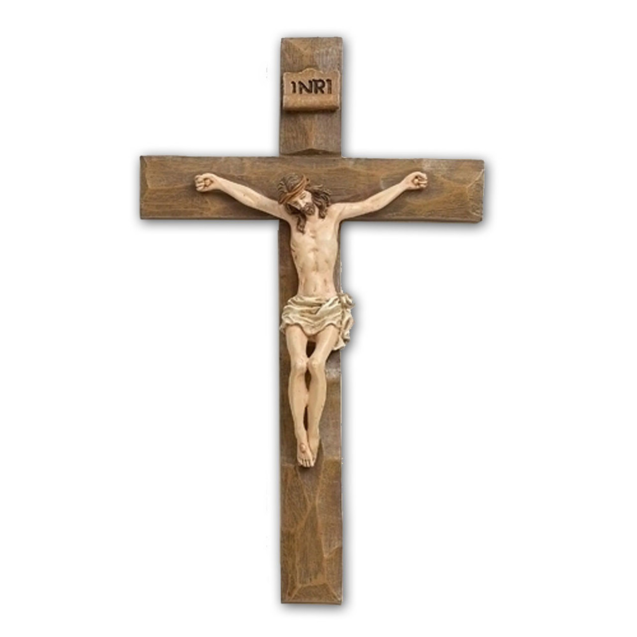 """8"""" Crucifix with Driftwood Texture"""