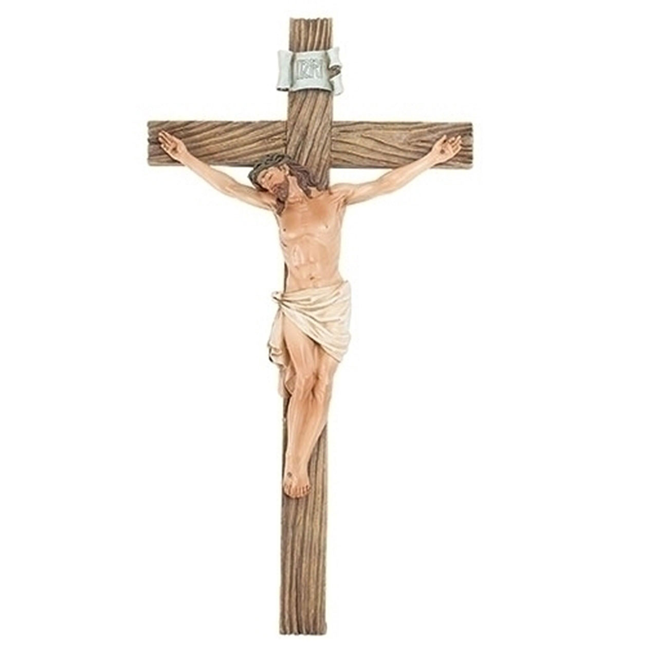 "Resin Wall Crucifix- 13-3/4"""