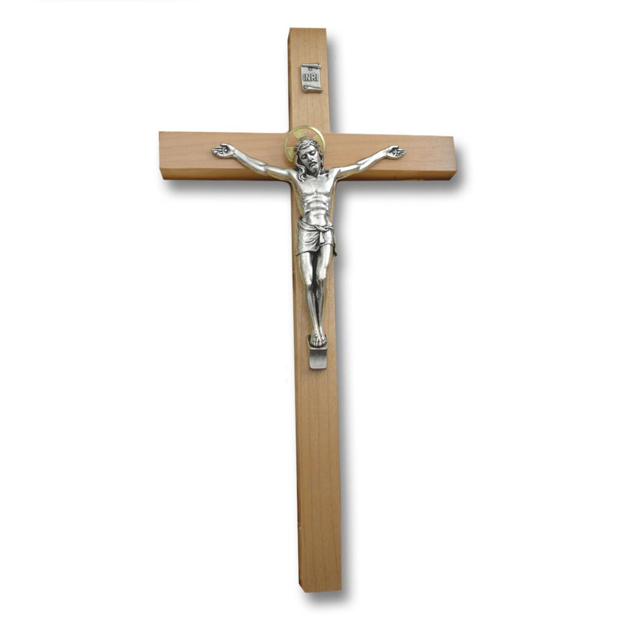Salerni Maple Crucifix 12IN