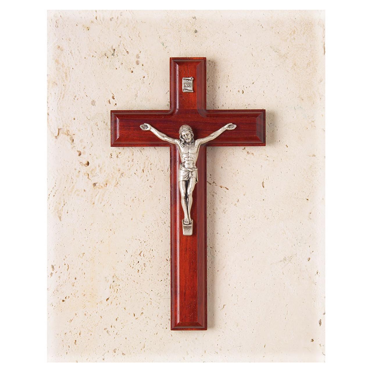 """7-1/2"""" Salerni Rosewood Crucifix"""