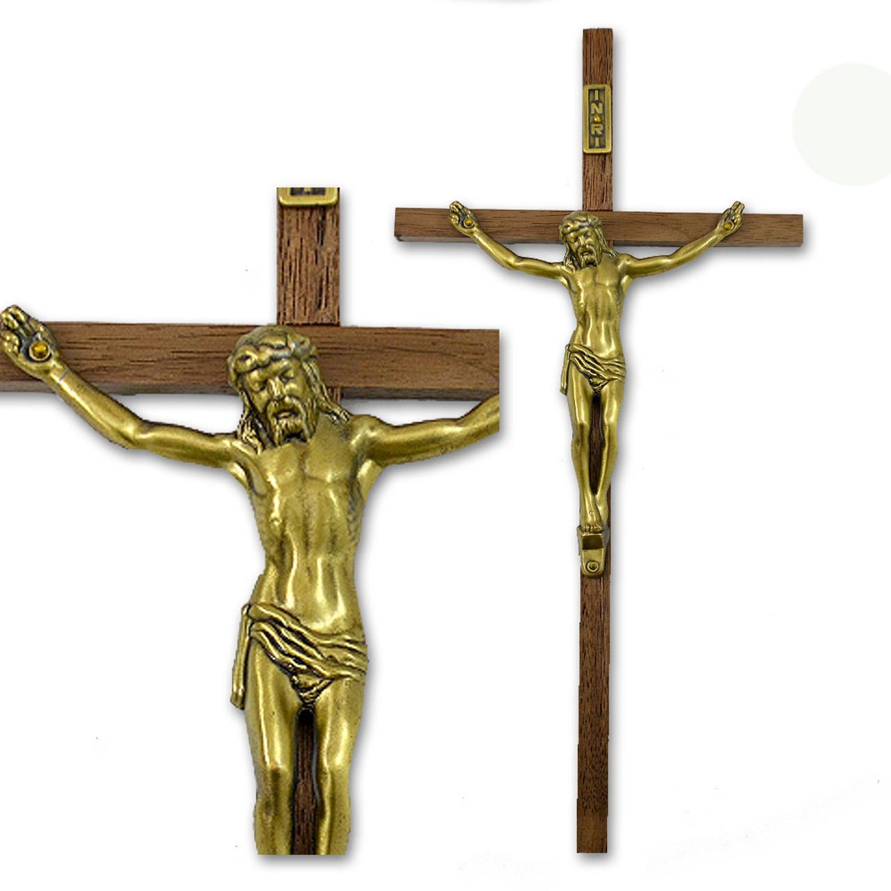 Crucifix Bronze Corpus Wood Cross