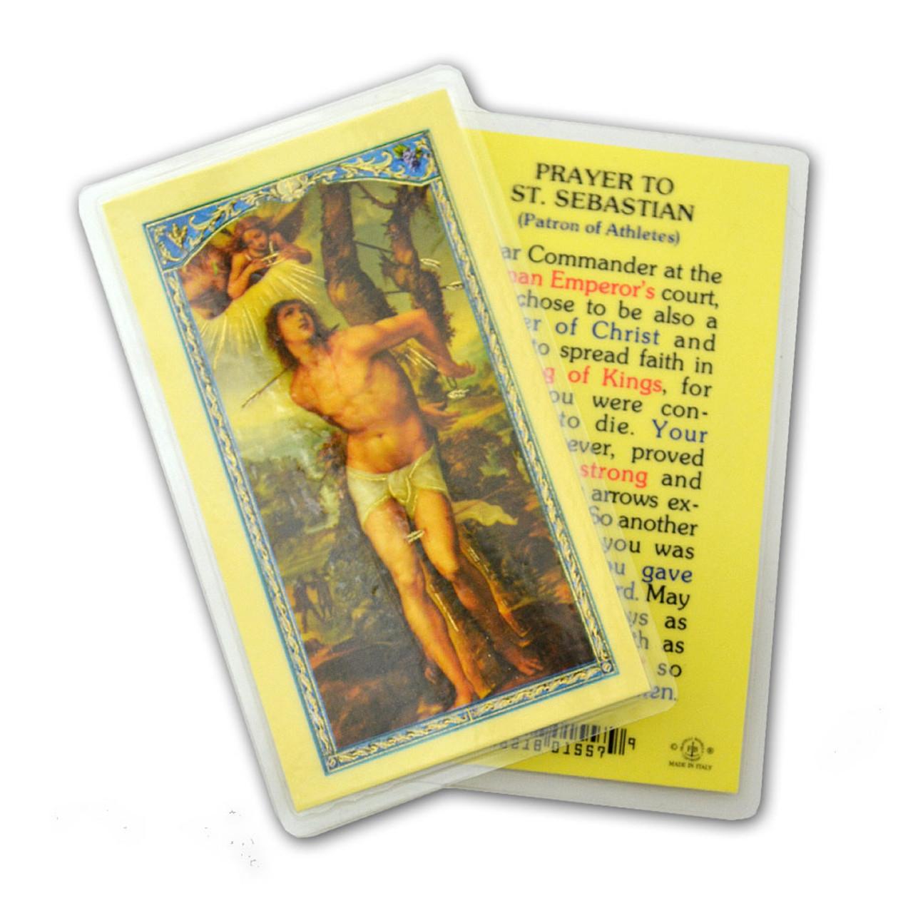 Prayer to St. Sebastian Laminated Holy Card