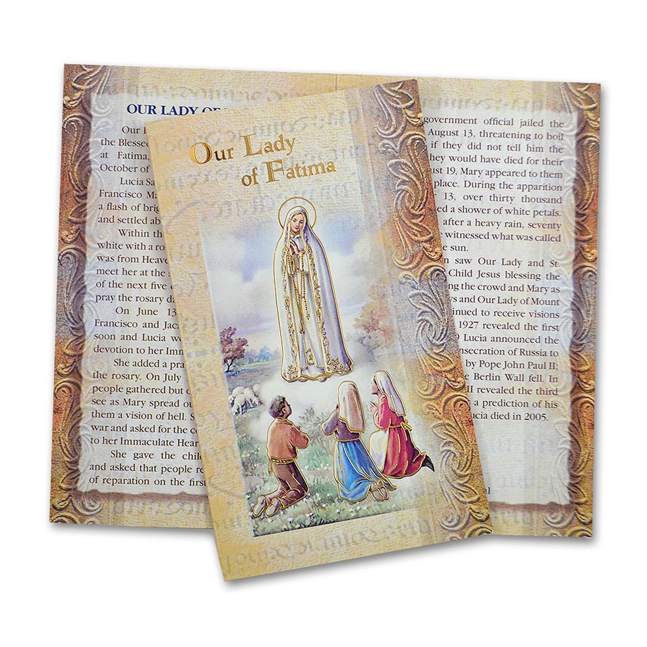 Our Lady of Fatima Mini Lives Holy Card
