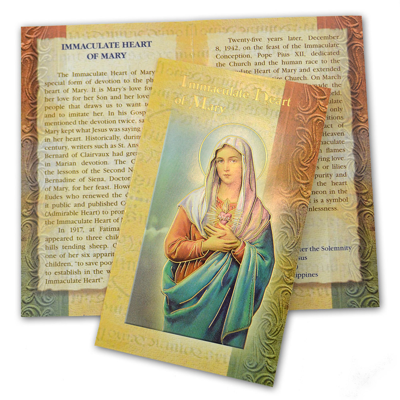 Immaculate Heart of Mary Mini Lives Holy Card