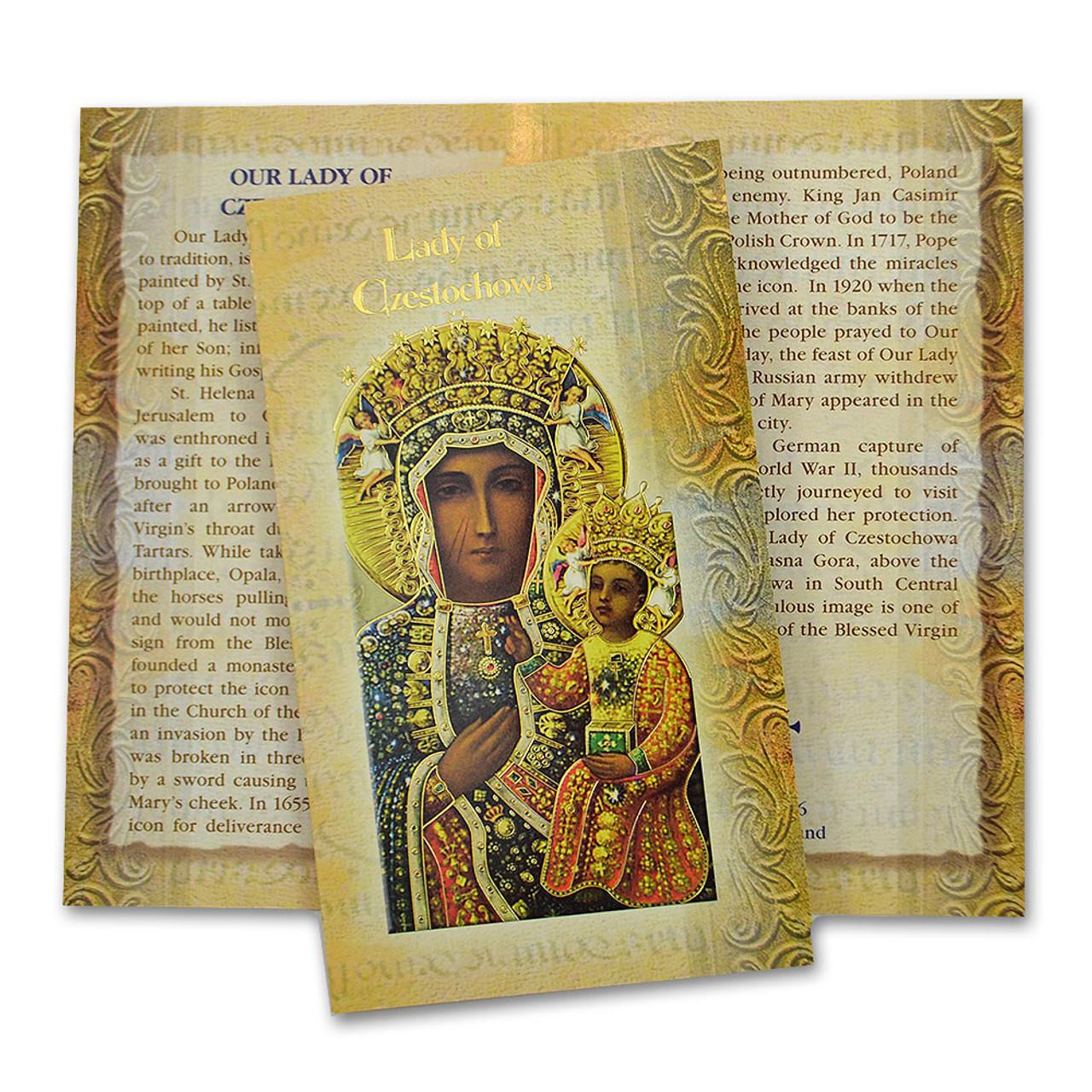 Lady of Czestochowa Mini Lives Holy Card