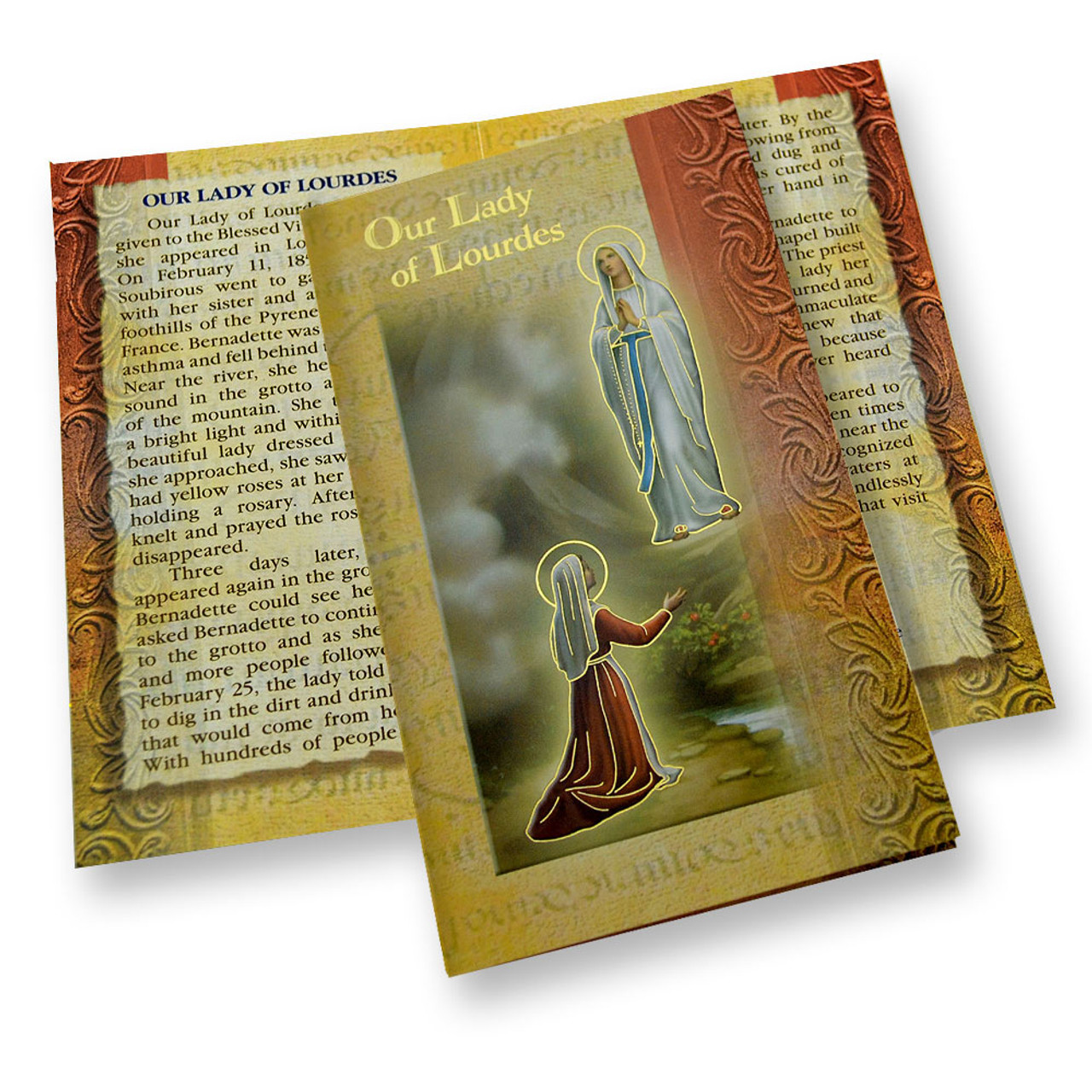 Our Lady of Lourdes Mini Lives Holy Card