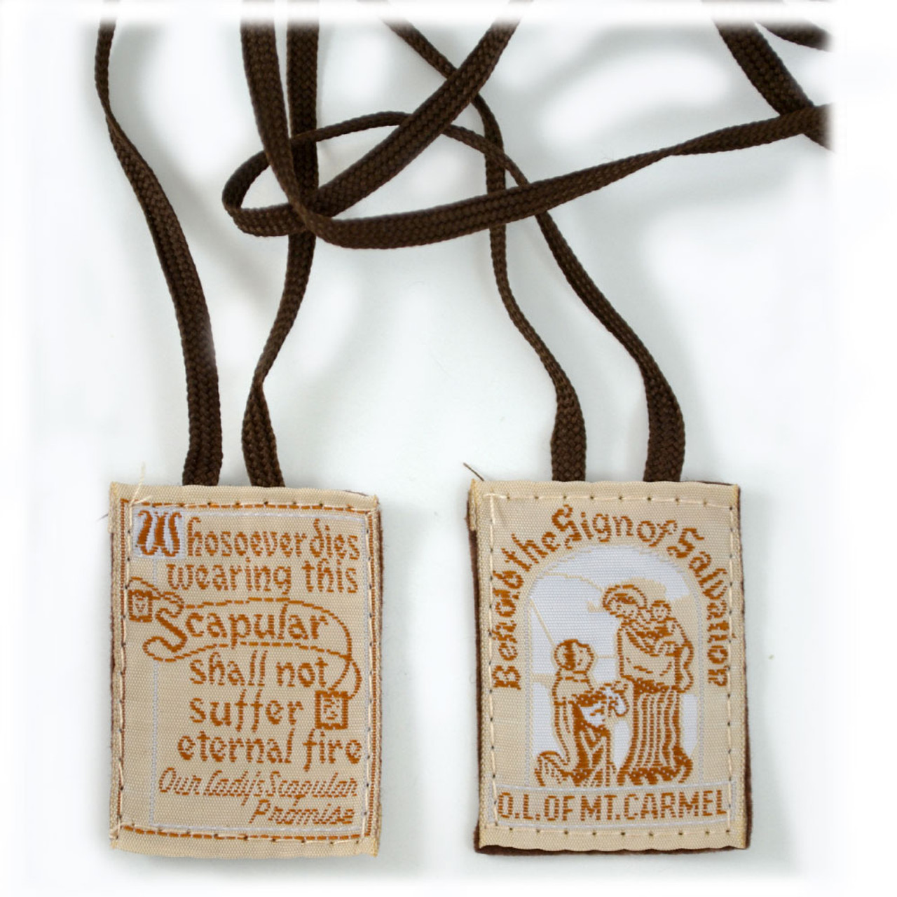 Cloth Scapular Brown