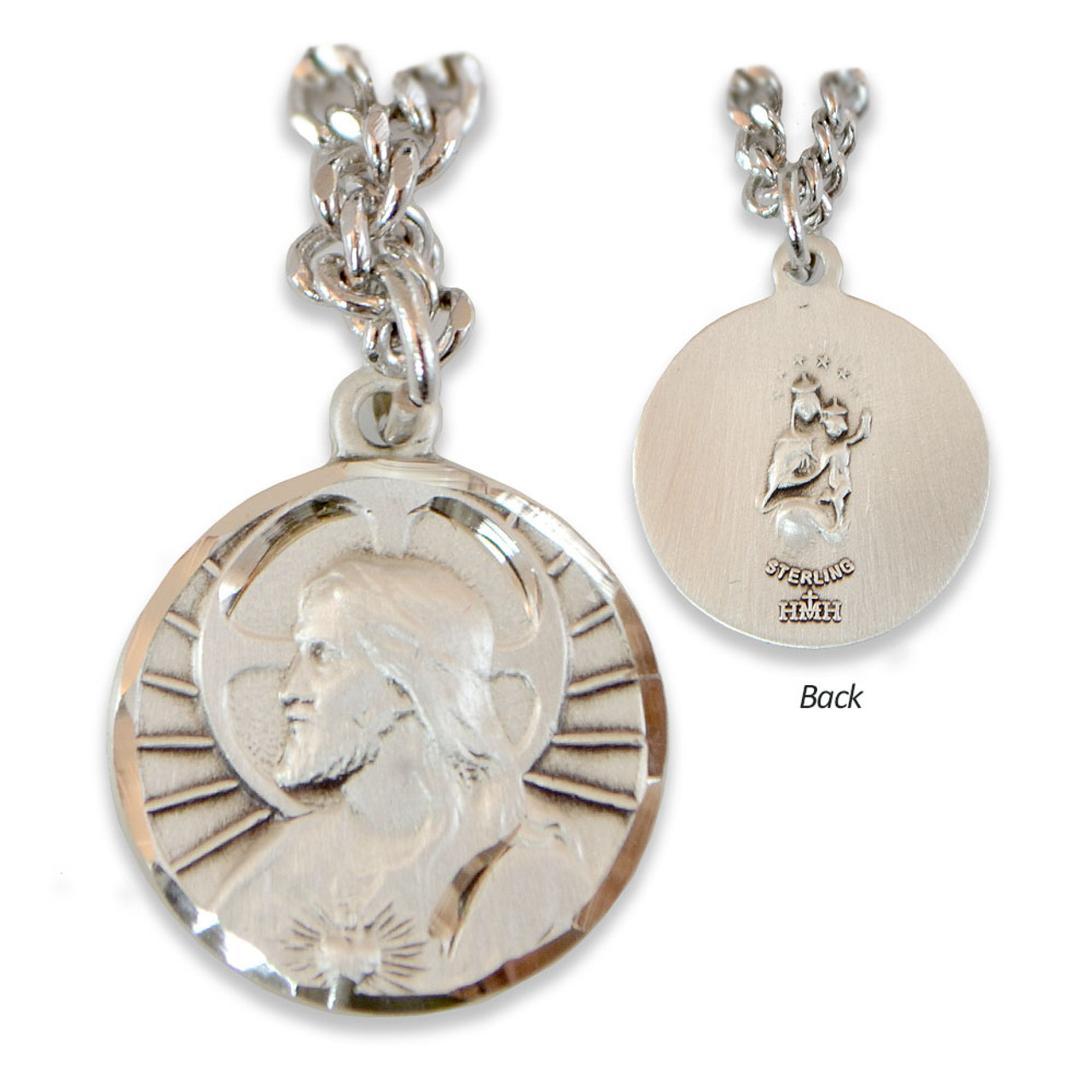Profile Scapular Medal SS 24IN Chain