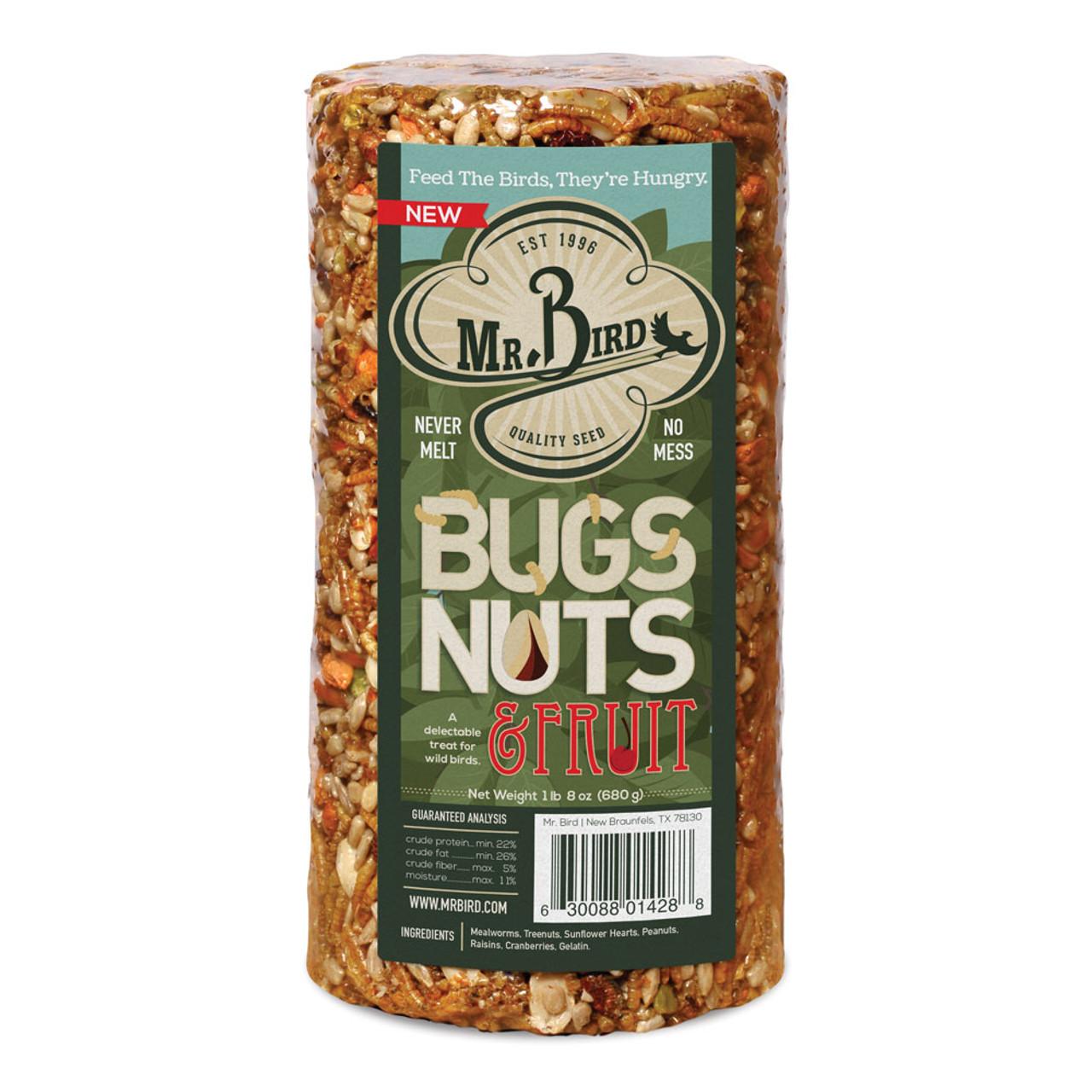 Bugs, Nut & Fruit Bird Food Cylinder