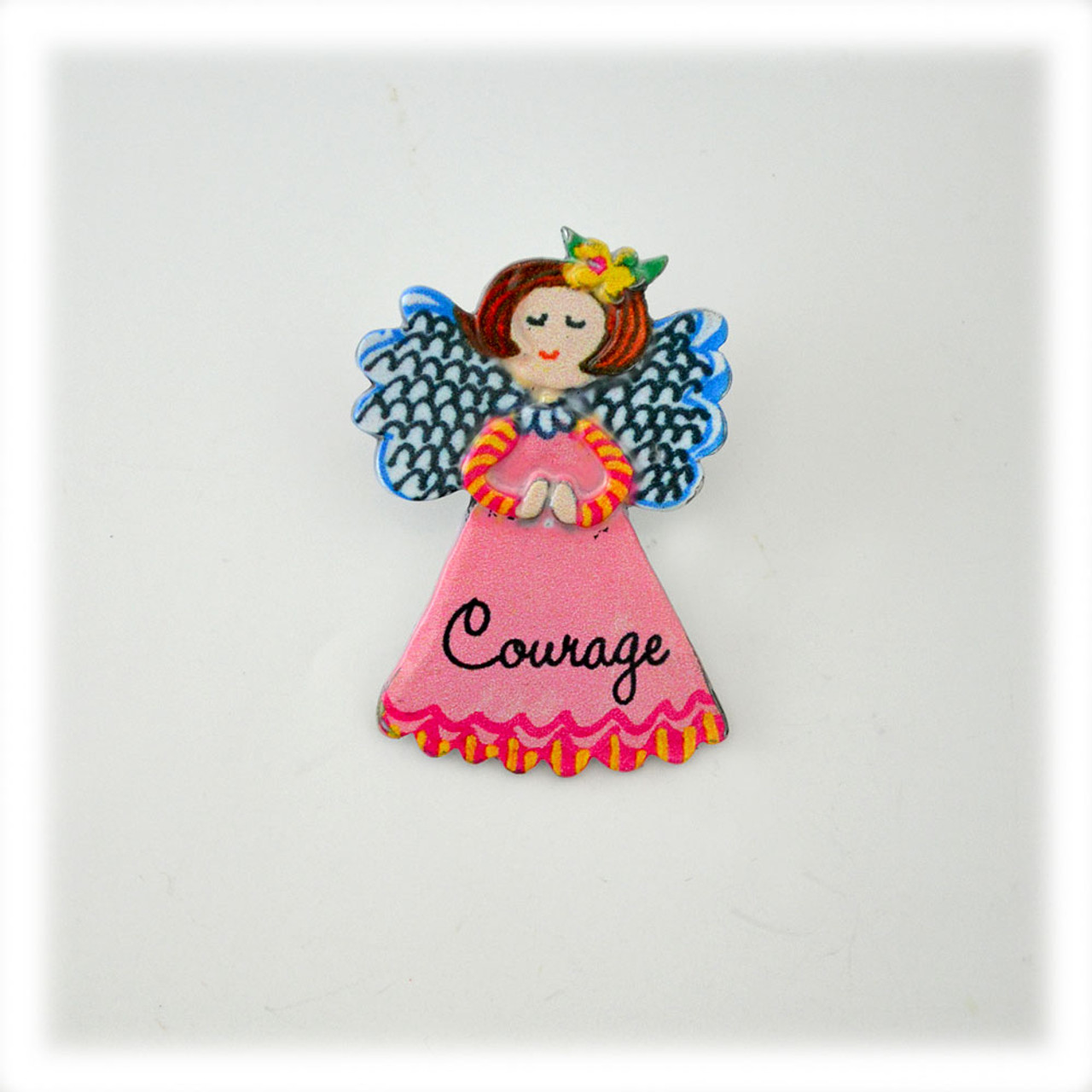 """Courage"" Angel Pin"