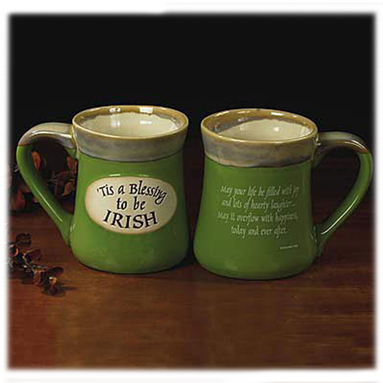 """Handcrafted """"Tis a Blessing To Be Irish"""" Mug"""