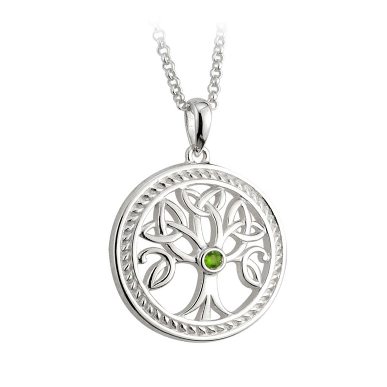 Tree of LIfe Celtic Pendant Sterling 18 Inch Chain