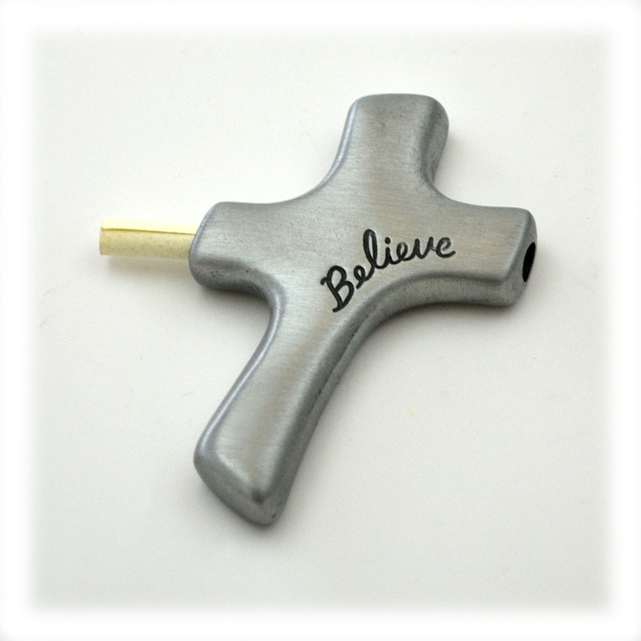 """Believe"" Metal Palm Cross"