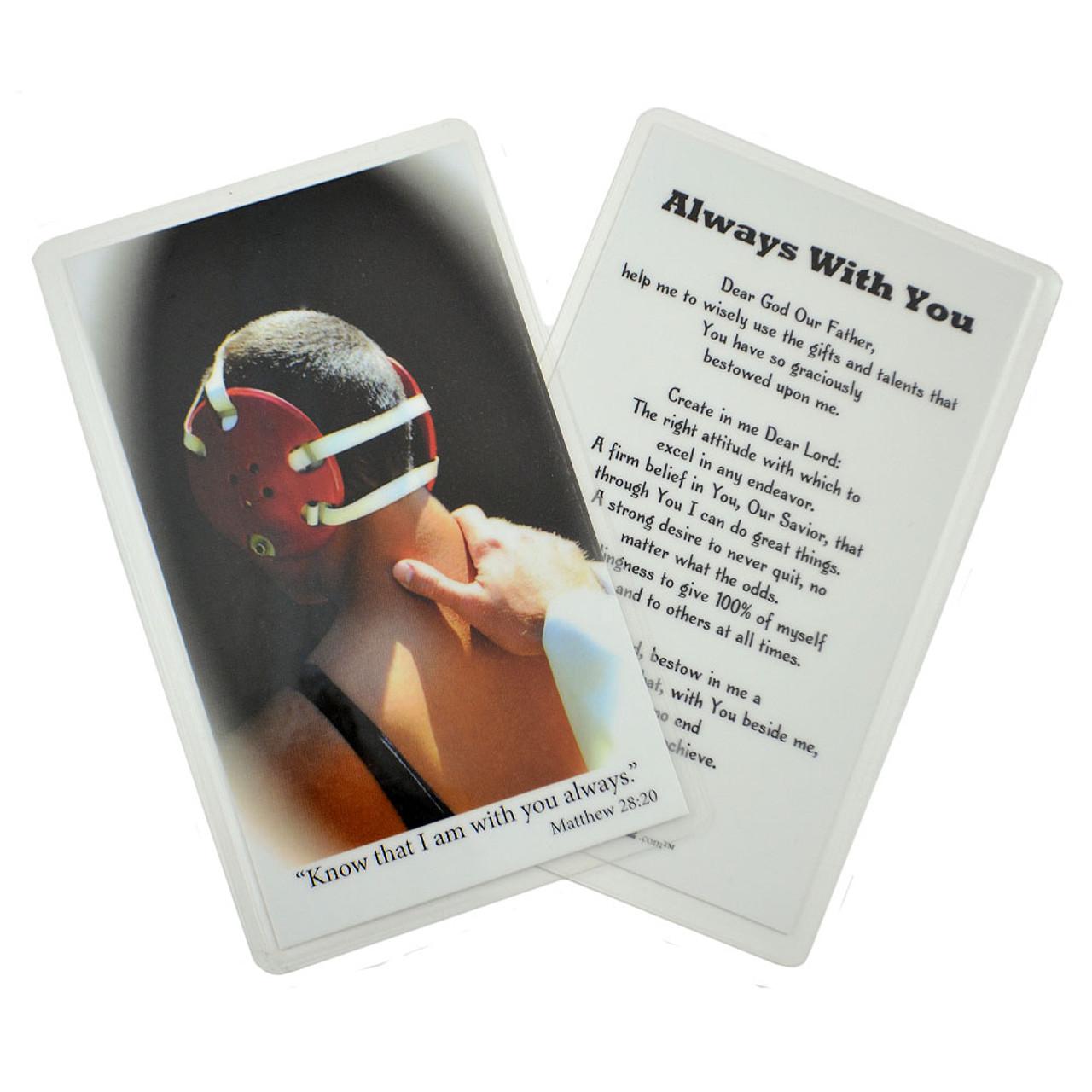 Laminated Wrestling Prayer Card