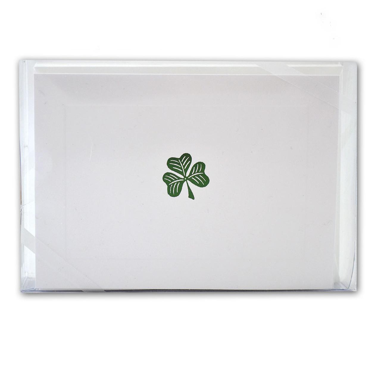 Box of 10 Irish Shamrock Notecards