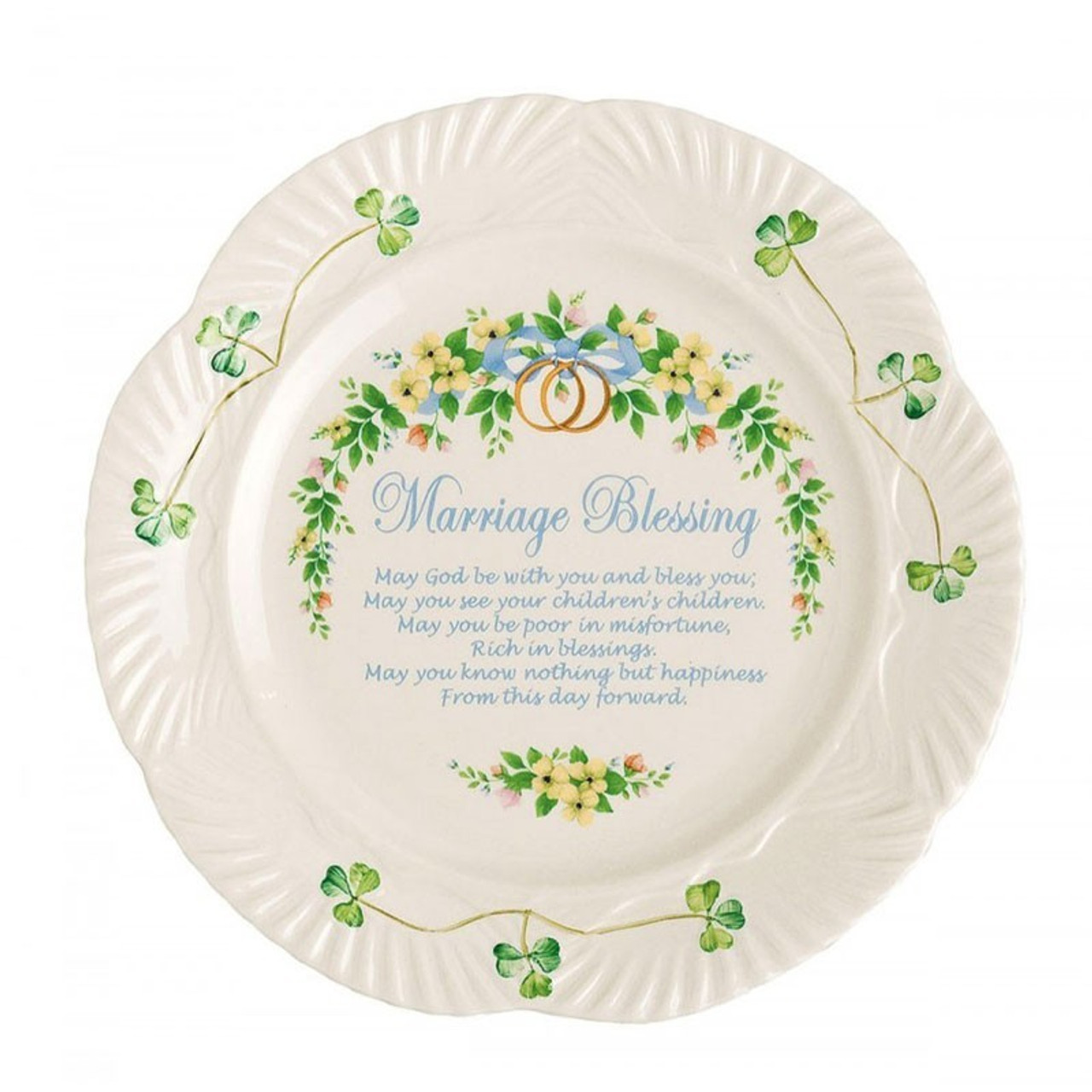 "China 'Marriage Blessing' Plate 9"" by Belleek"