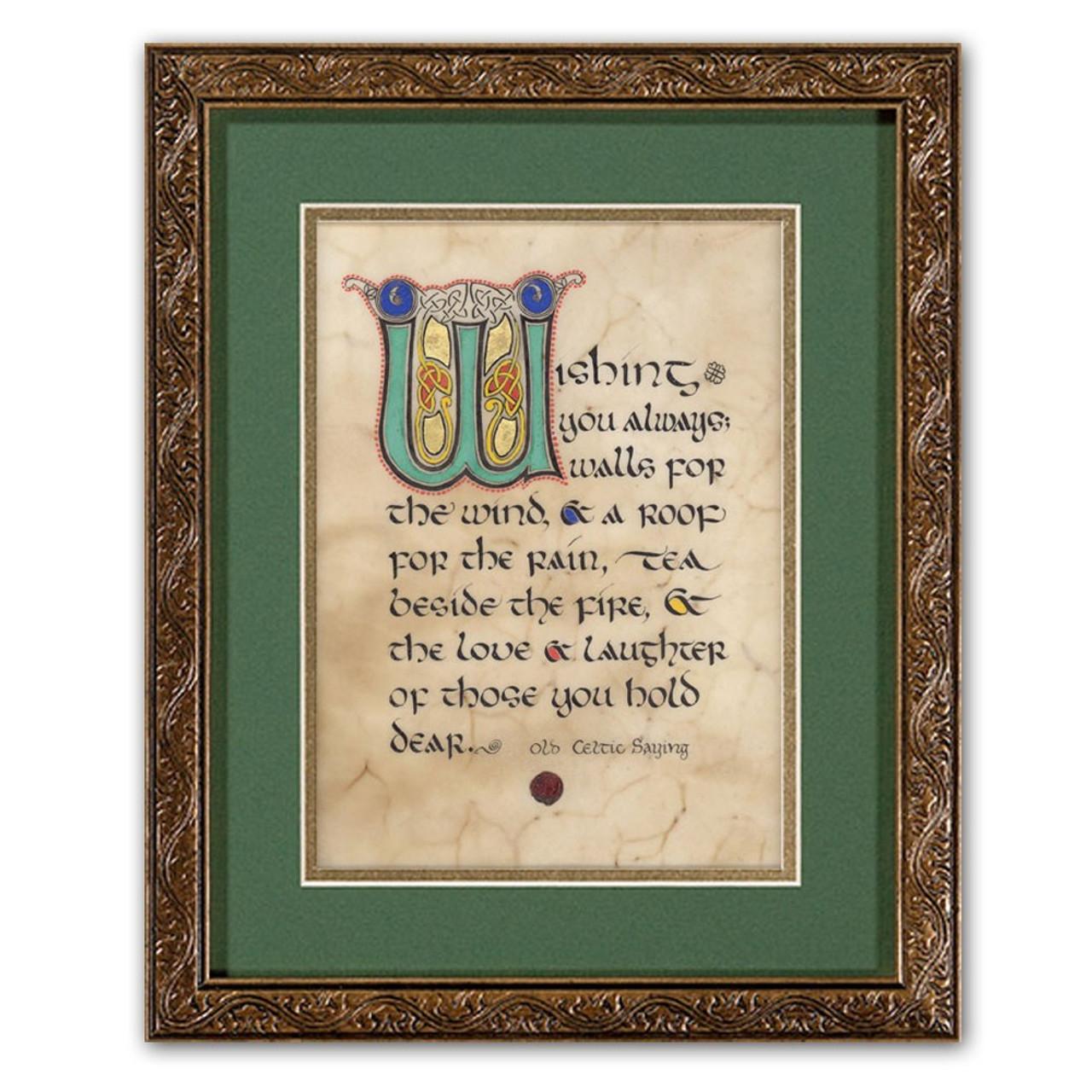 Framed House Blessing Celtic Print 8x10