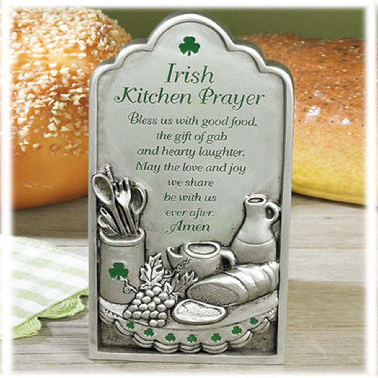 Kitchen Prayer Irish Plaque Pewter St Patrick S Guild