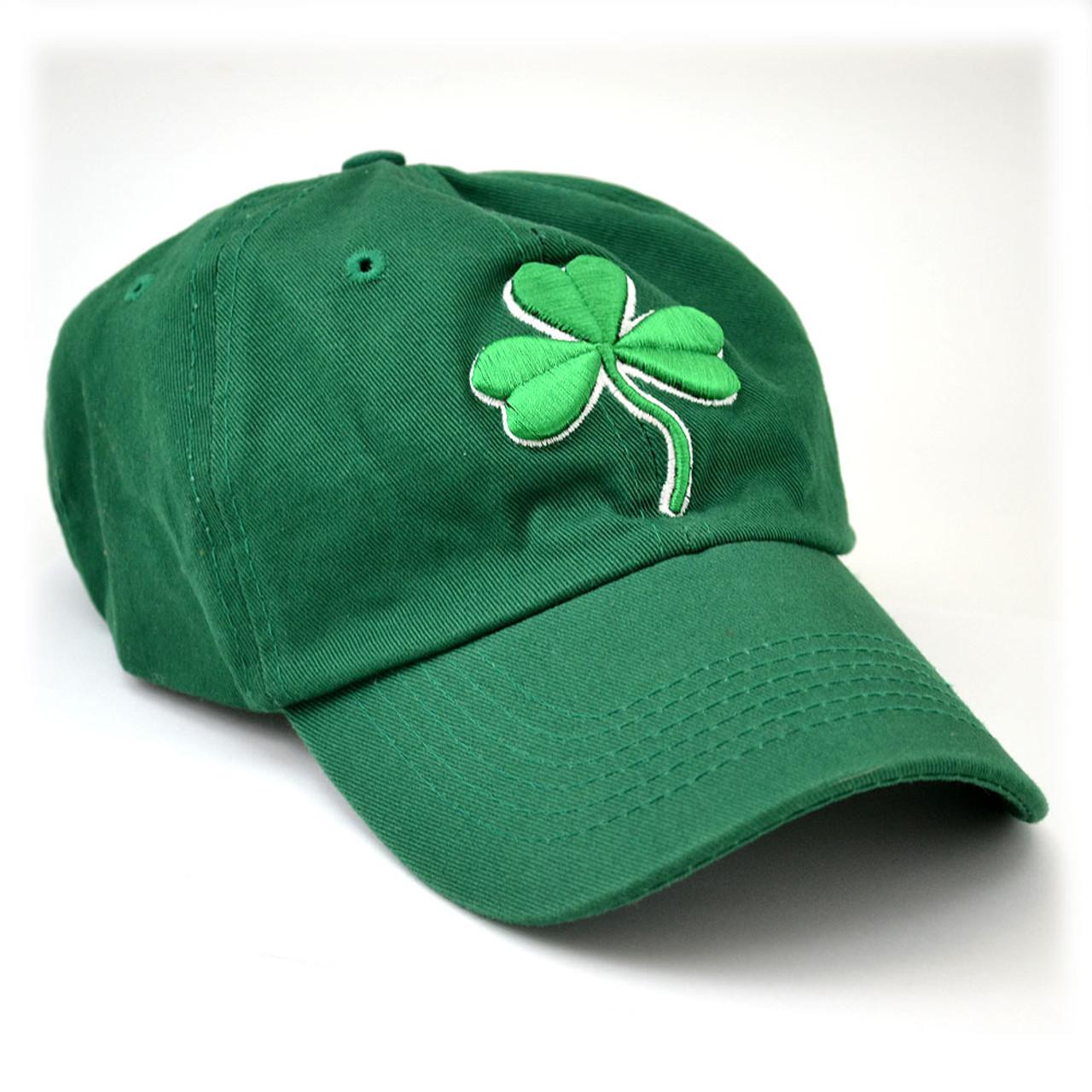 Green Irish Shamrock Baseball Cap