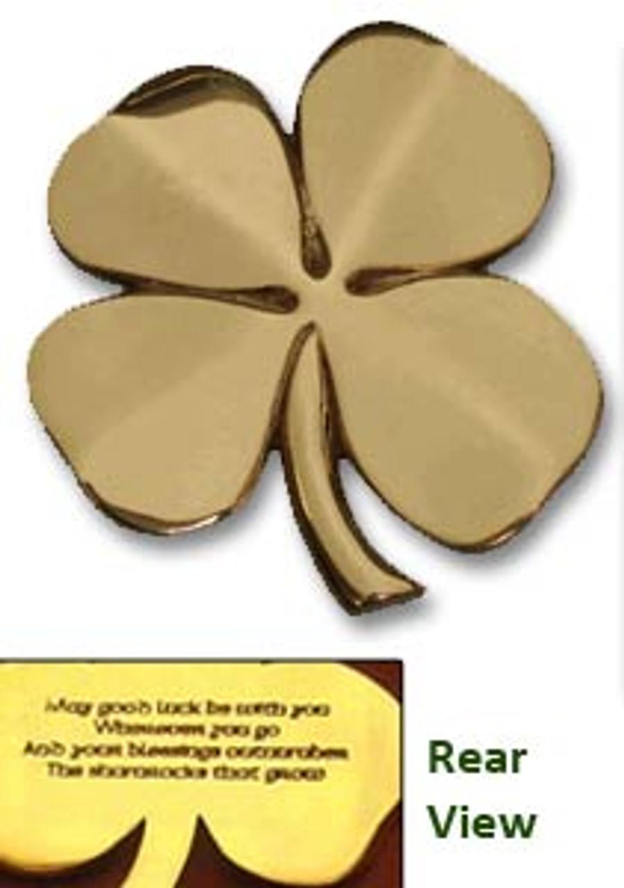 4 Leaf Clover in Brass