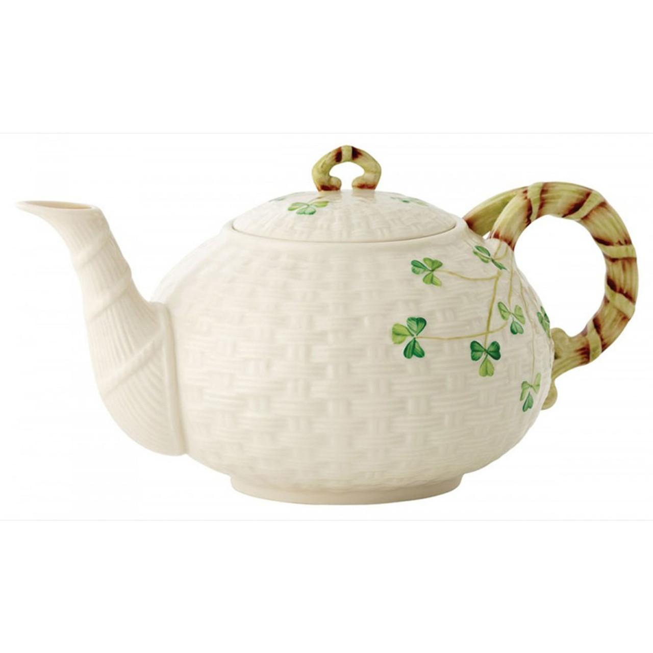 Shamrock Teapot by Belleek